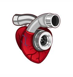 Heart turbo logo vector