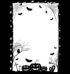 Holiday poster for halloween vector