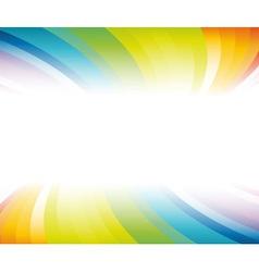 horizontal rainbow banner vector image