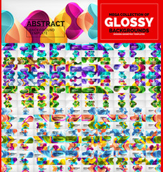 Huge mega collection geometric abstract vector