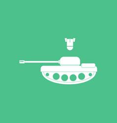 Icon tank and mortar shell vector