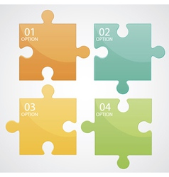 Infographic puzzle vector image
