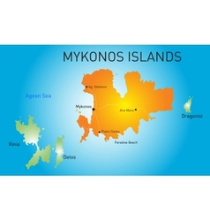 Island of Mykonos vector image