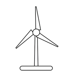 Isolated eco wind mill design vector