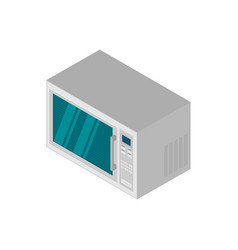 isometric microwave icon in flat style vector image