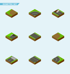 Isometric way set of without strip repairs vector