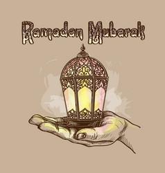 lantern fanus ramadan vector image