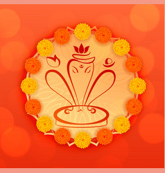 Lord ganesha design decorative background vector