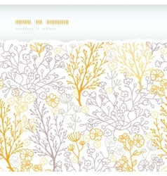 Magical floral horizontal torn seamless pattern vector image