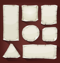 old torn paper set vector image