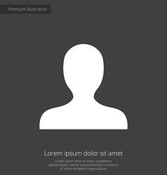 profile premium icon white on dark background vector image