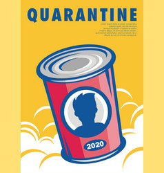 Quarantine conceptual symbolic artwork vector