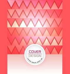red abstract cover design template vector image