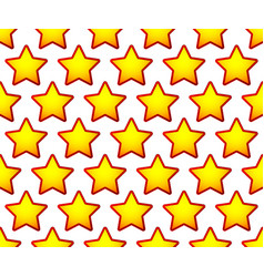 Repeatable pattern with red yellow star shapes vector