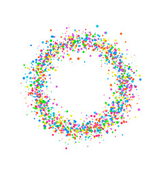 round colored confetti vector image
