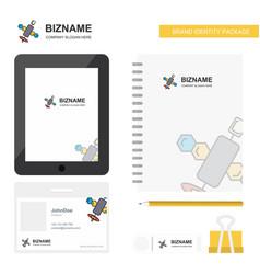 Satellite business logo tab app diary pvc vector