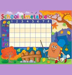 School timetable composition 3 vector