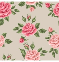 Seamless pattern with vintage roses Decorative vector image
