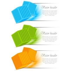 set of banners with cubes vector image