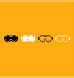 ski goggles it is white icon vector image