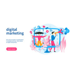 social marketing template vector image