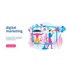 social marketing template vector image