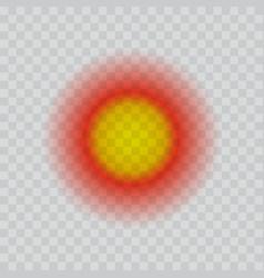 Spot pain icon realisttic vector