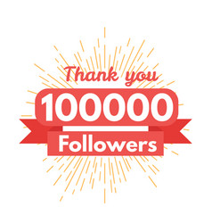 Thank you followers vector