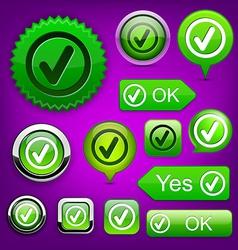 Tick high-detailed modern buttons vector