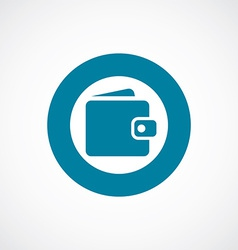 Wallet icon bold blue circle border vector
