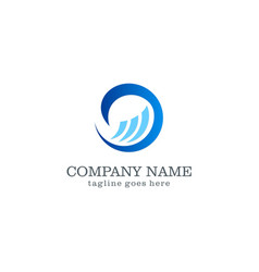 Wave water logo design vector