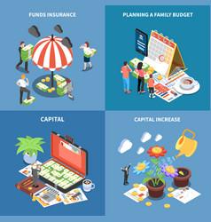 wealth management isometric design concept vector image