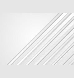 White geometric technology stripes background vector