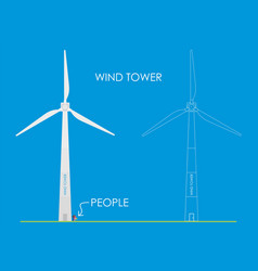 Wind tower vector