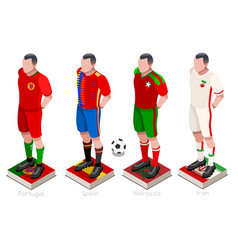 World cup soccer team vector
