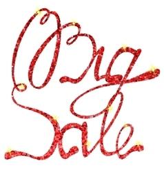 Big sale lettering tinsels vector image