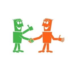 handshake of two people vector image vector image