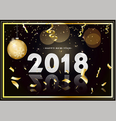 happy new year 2018 design card on modern vector image