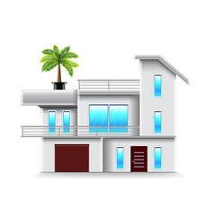 modern house with big windows isolated vector image