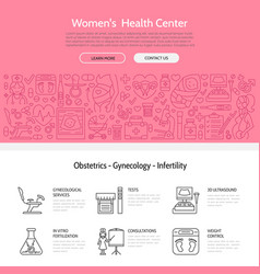modern line icon of pregnancy fertility vector image vector image