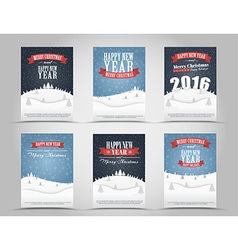Set of Christmas and New Year flyers vector image vector image