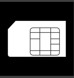 sim card the white color icon vector image