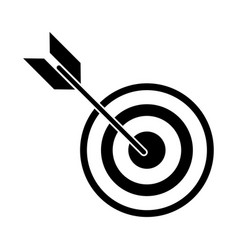 target arrow strategy market pictogram vector image