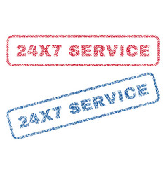 24x7 service textile stamps vector image