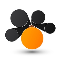 Bubble infographics design vector image