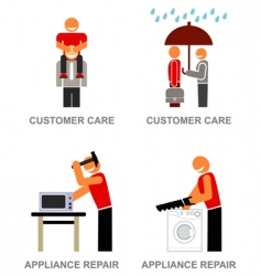 customer service icons vector image vector image