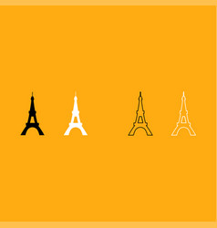 eiffel tower it is white icon vector image vector image