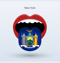 Electoral vote of new york abstract mouth vector