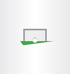 football soccer icon goal net vector image