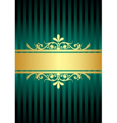 gold and turquoise background vector image